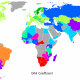Gini Index for Countries around the World in 2009