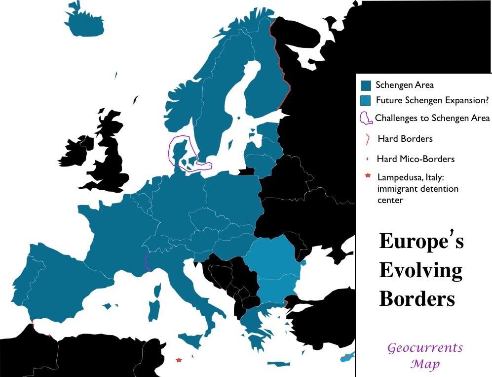 Schengen Agreement Geocurrents