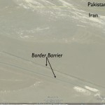 Google Earth Image of Iran-Pakistan Barrier