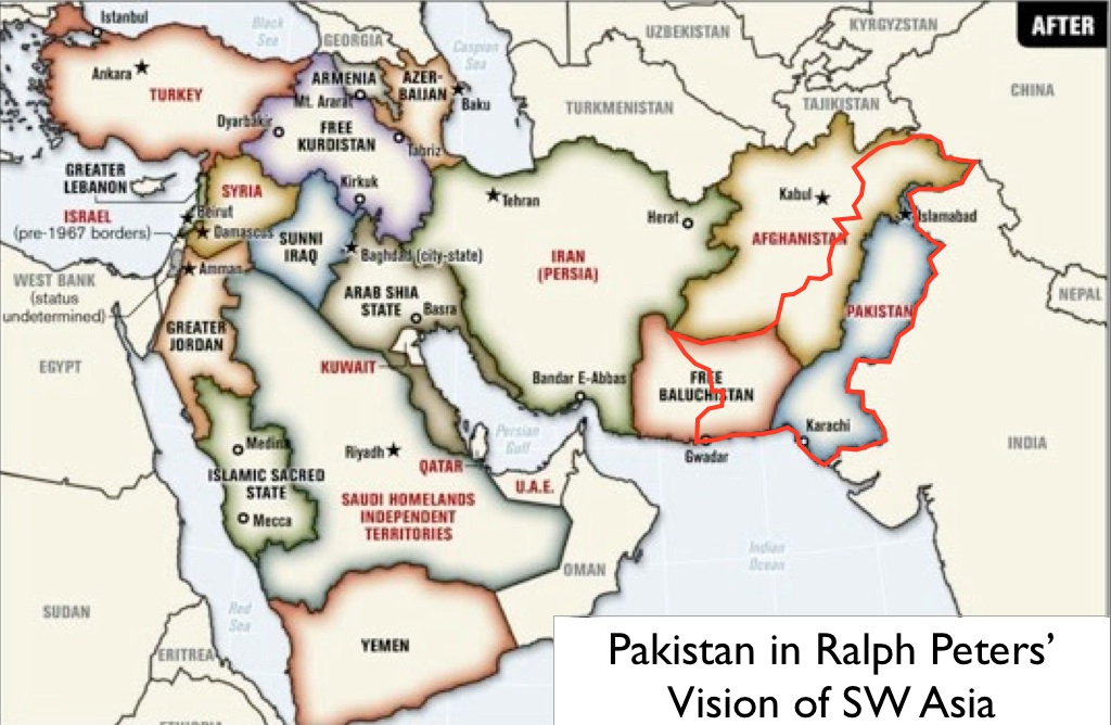 Ralph peters geocurrents ralph peters alternative map of the middle east gumiabroncs Gallery
