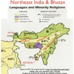 Map of language and religion in northeastern India