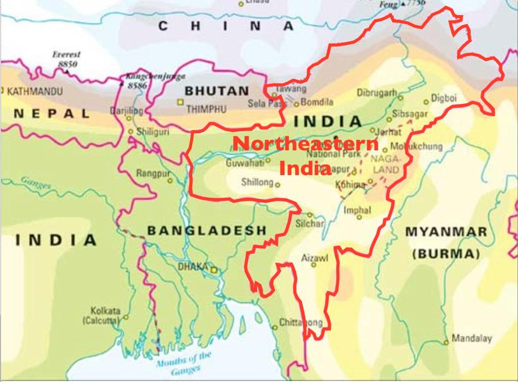 Northeast-India-Map - GeoCurrents