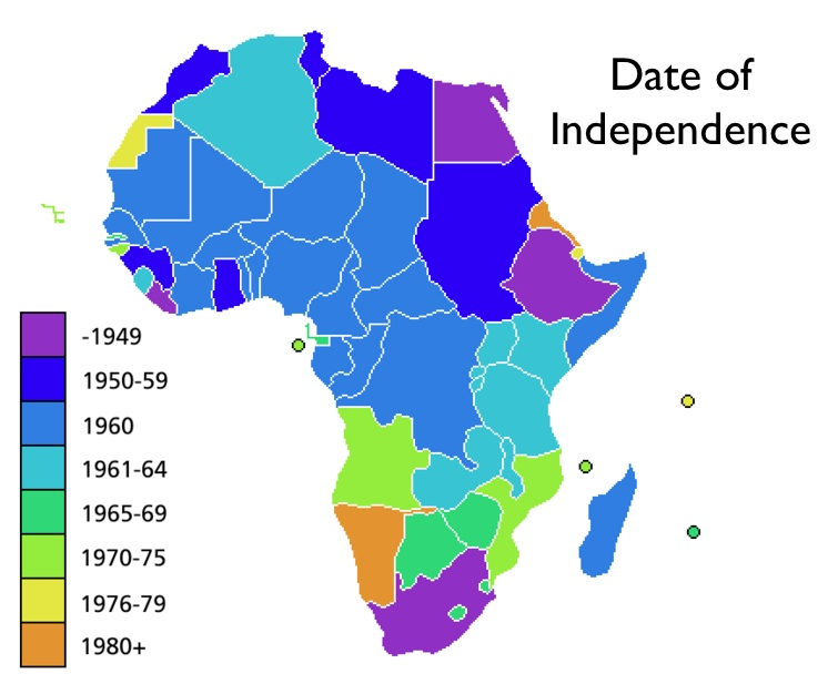 African Independence Map