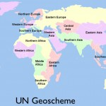 Map of UN Geoscheme of Global Division