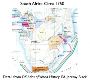 Political Map Southern Africa 1750 Geocurrents