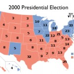 Map of 2000 Election, USA