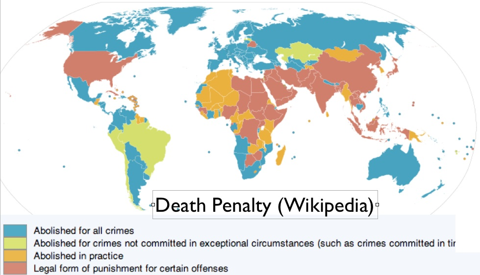capital punishment across countries According to amnesty international, as of july 2015, 101 countries have  abolished the death penalty for all crimes in law, while 140 countries have  abolished the.