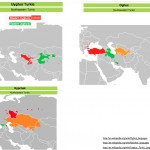 Wikipedia Maps of Three Turkic Language Sunfamilies