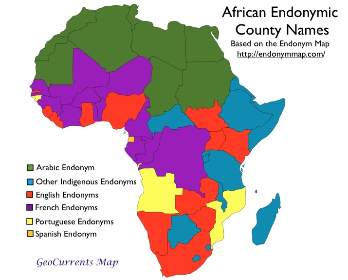African Country Names in Indigenous Languages | GeoCurrents