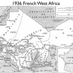 Map of French West Africa from 1936