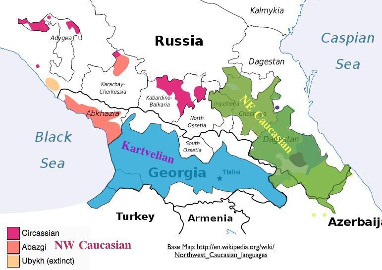 World Language Families Map