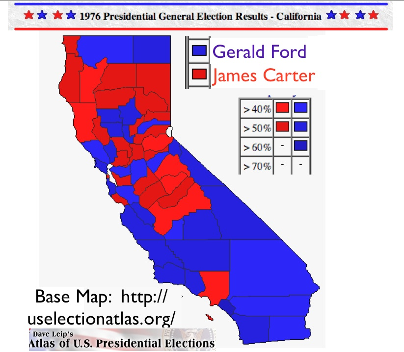 1976 Electoral Map Submited Images  Pic2Fly