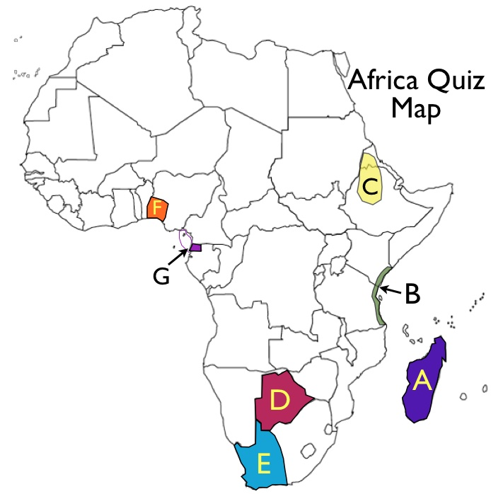Map Quiz Of Africa Where You Fill In Countries 27