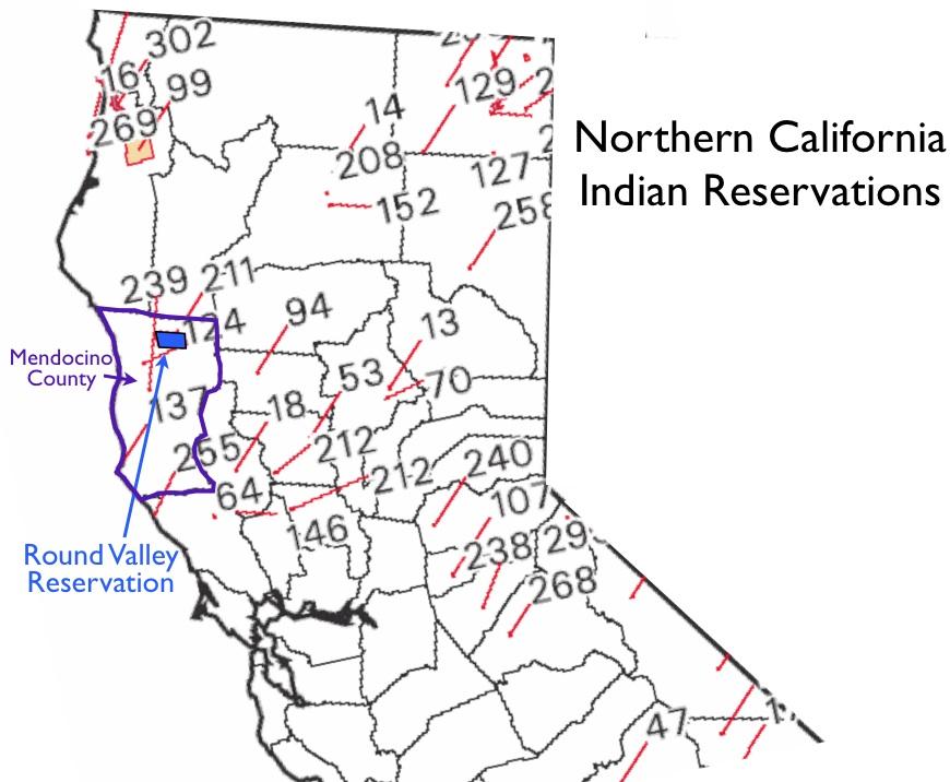 California indian casinos map