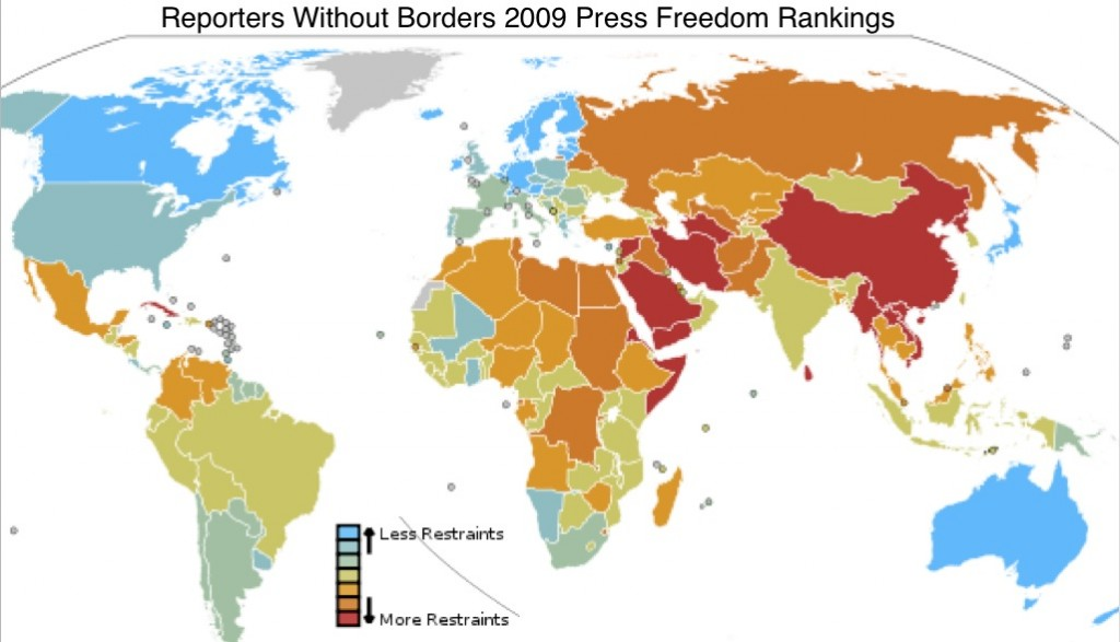 Subsaharan africa 47 geocurrents wikipedia map of reporters without borders press freedom ranking gumiabroncs Gallery