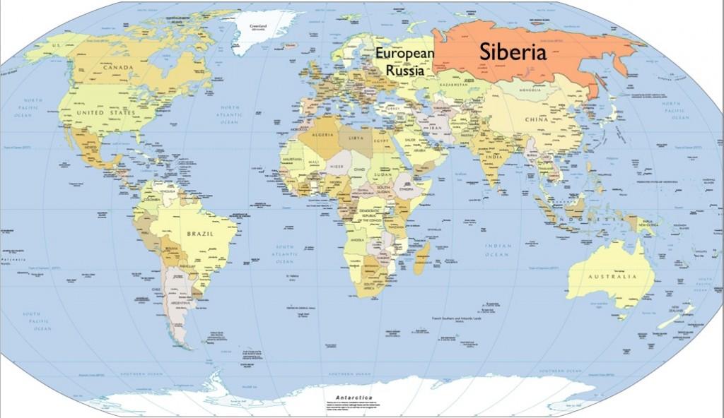 Map Of Siberia And Alaska For Pinterest