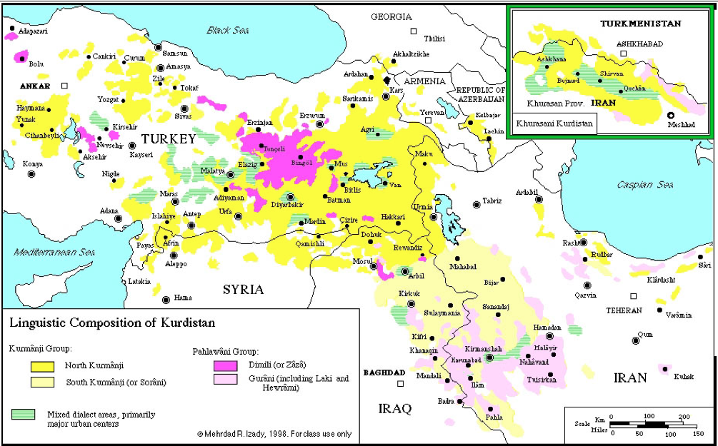 Kurdish Languages GeoCurrents