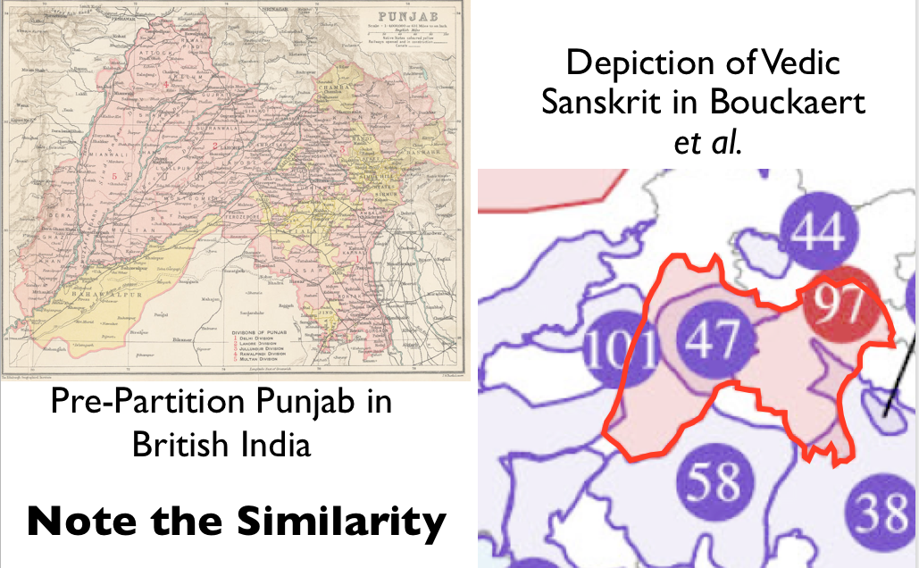 Sanskrit Of The Vedas Vs Modern Sanskrit: Punjab Vedic Sanskrit Map