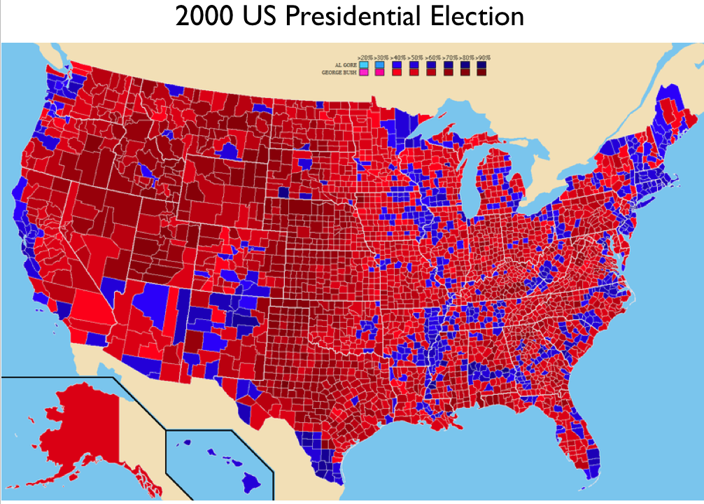 Electoral Geography GeoCurrents - 2016 presidental voting map by county for tge us