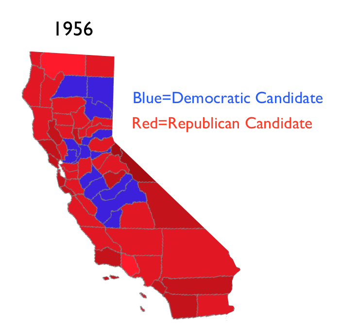 The New York Times Map Of County Level Changes In The U S Presidential Vote From 2008 To 2012 Shows Almost Every County In California Shifting Red In The