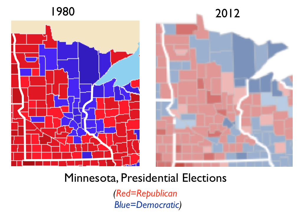 Elections GeoCurrents - Red blue map of us by county