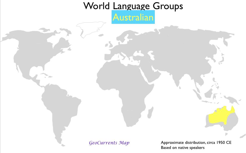 Australian Language Map GeoCurrents - Australian language map