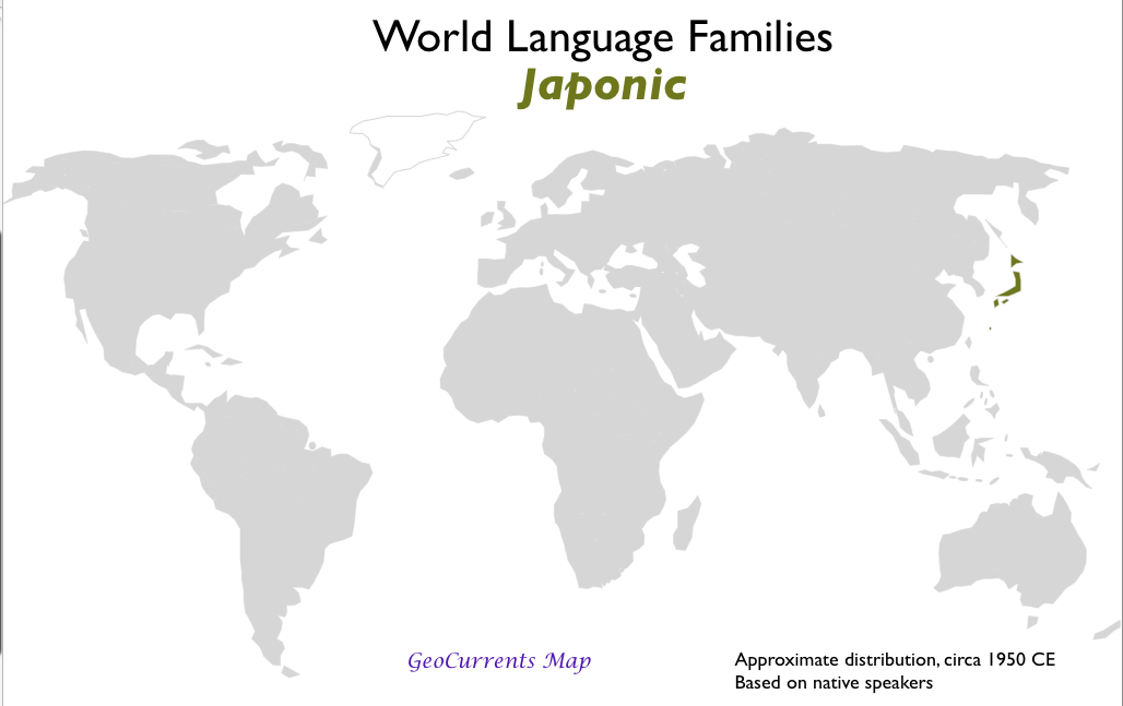 Geocurrents maps of languages language families geocurrents world language families japonic world world language gumiabroncs Image collections