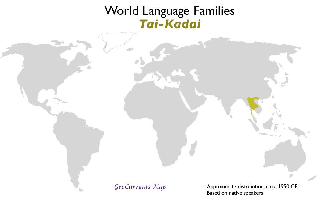 World maps of language families continued geocurrents tai kadai language family map publicscrutiny Images