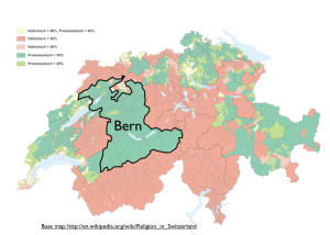 Switzerland Bern Religion Map - GeoCurrents