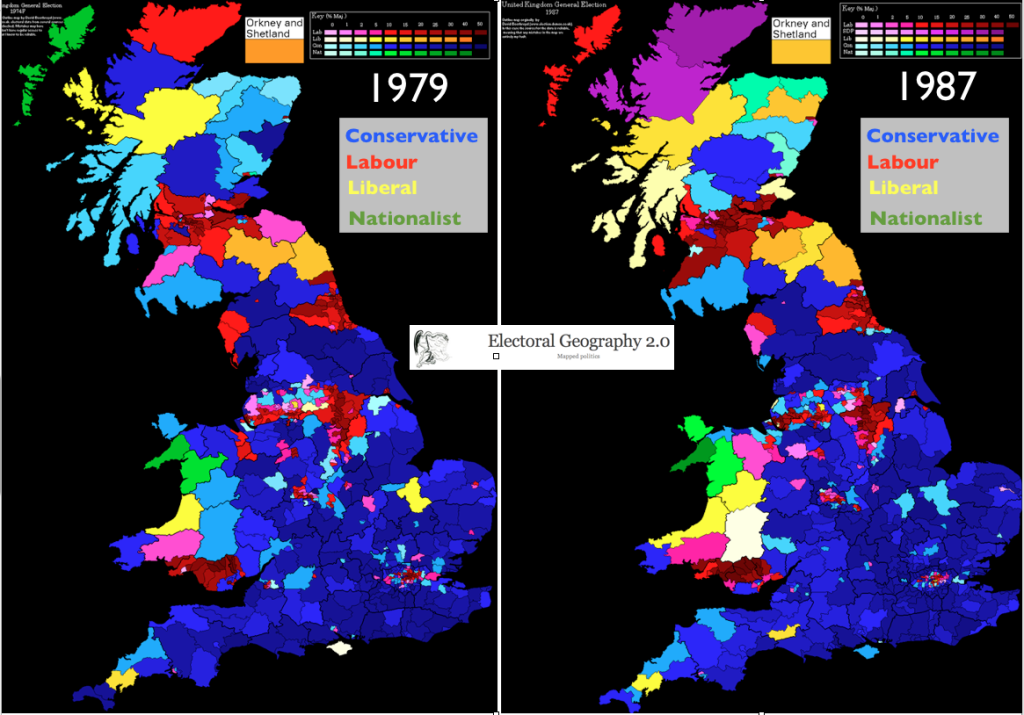Changing Geographical Patterns In British Elections