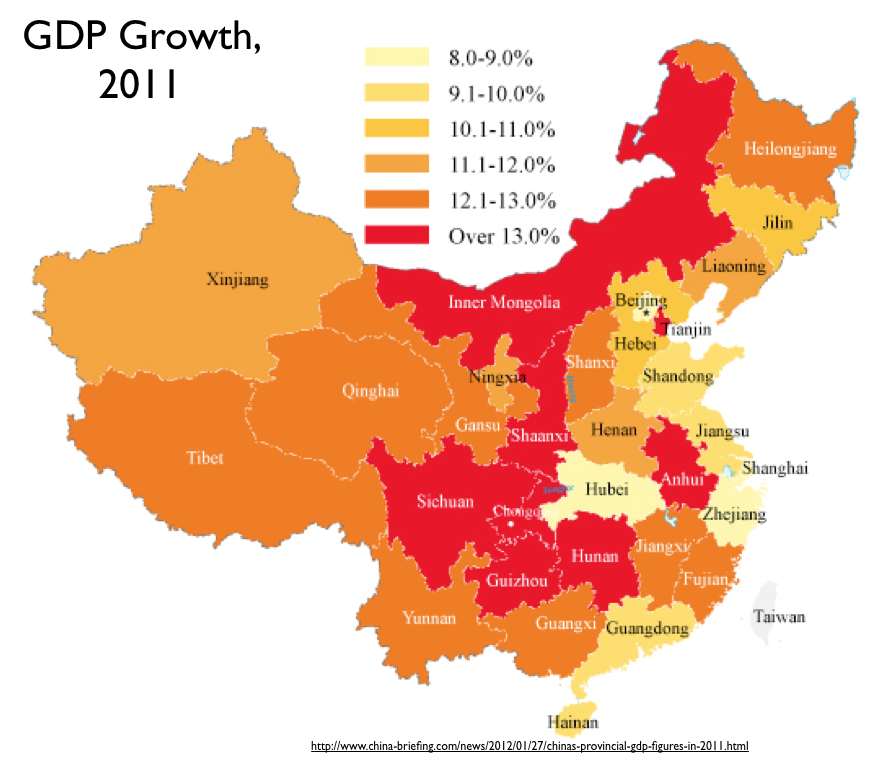 Show Map Of China.China Gdp Map Geocurrents