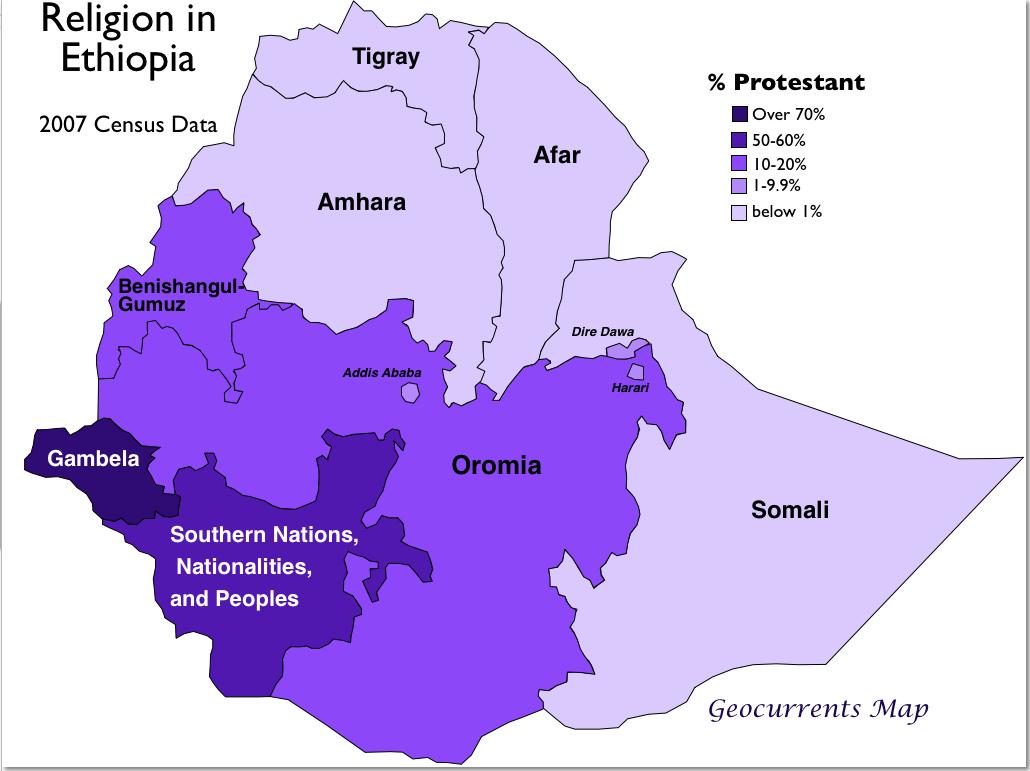 Geocurrents maps of ethiopia geocurrents protestants in ethiopia gumiabroncs Choice Image