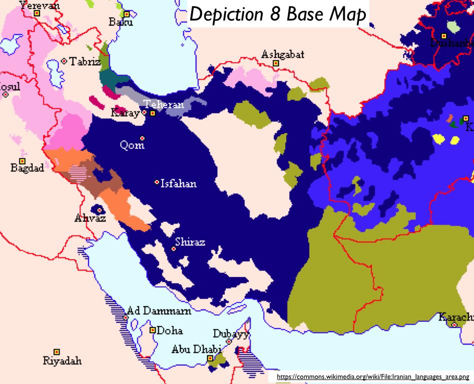 Iranian Language Map GeoCurrents - Farsi language map