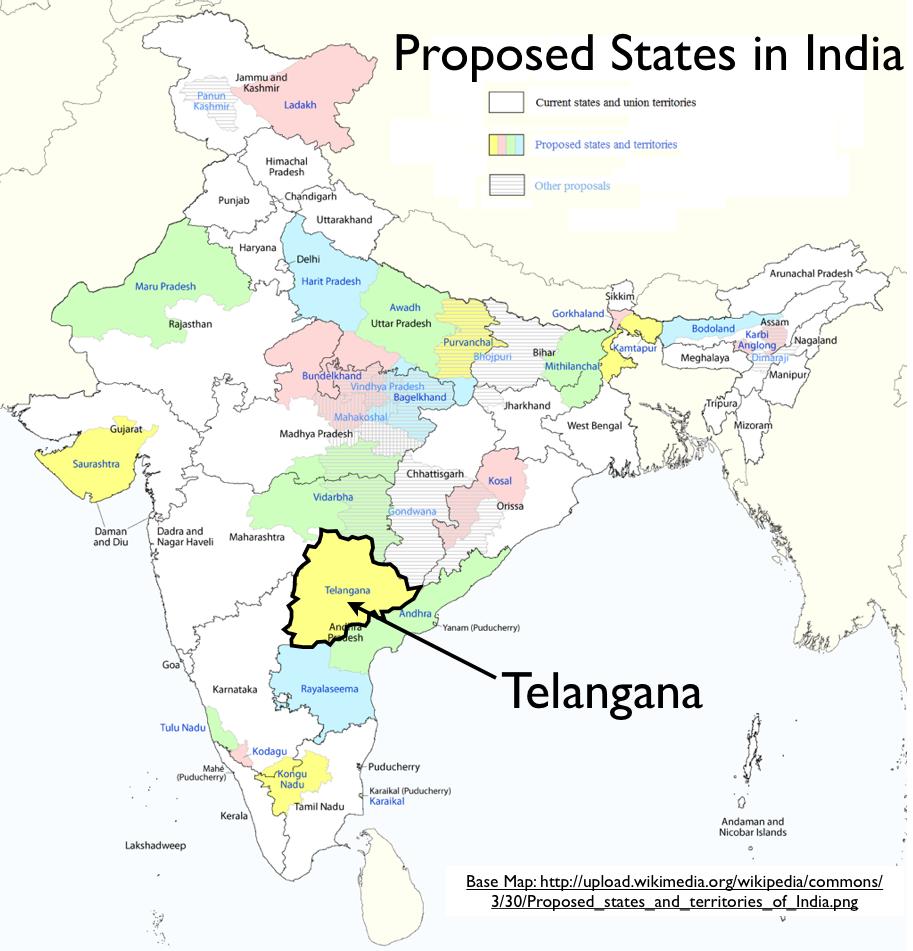 Latest India Map.Telangana Proposed States Of India Map Geocurrents