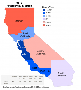 6CaliforniasPolitical Map
