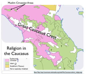 Caucasius religion map