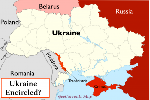 Ukraine Encircled Map