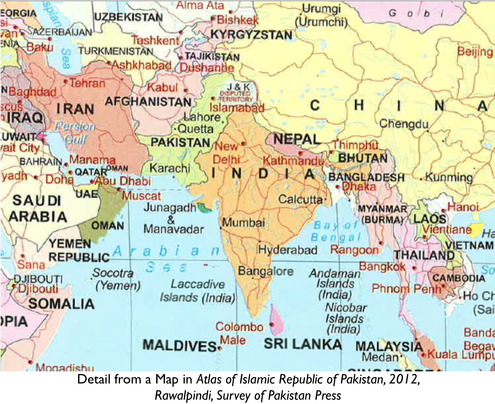 Does pakistan claim junagadh in the indian state of gujarat world political map junagadh gumiabroncs Choice Image