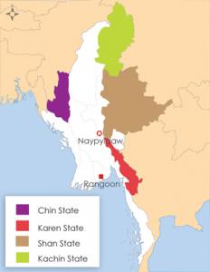 Burma Ethnic States Map