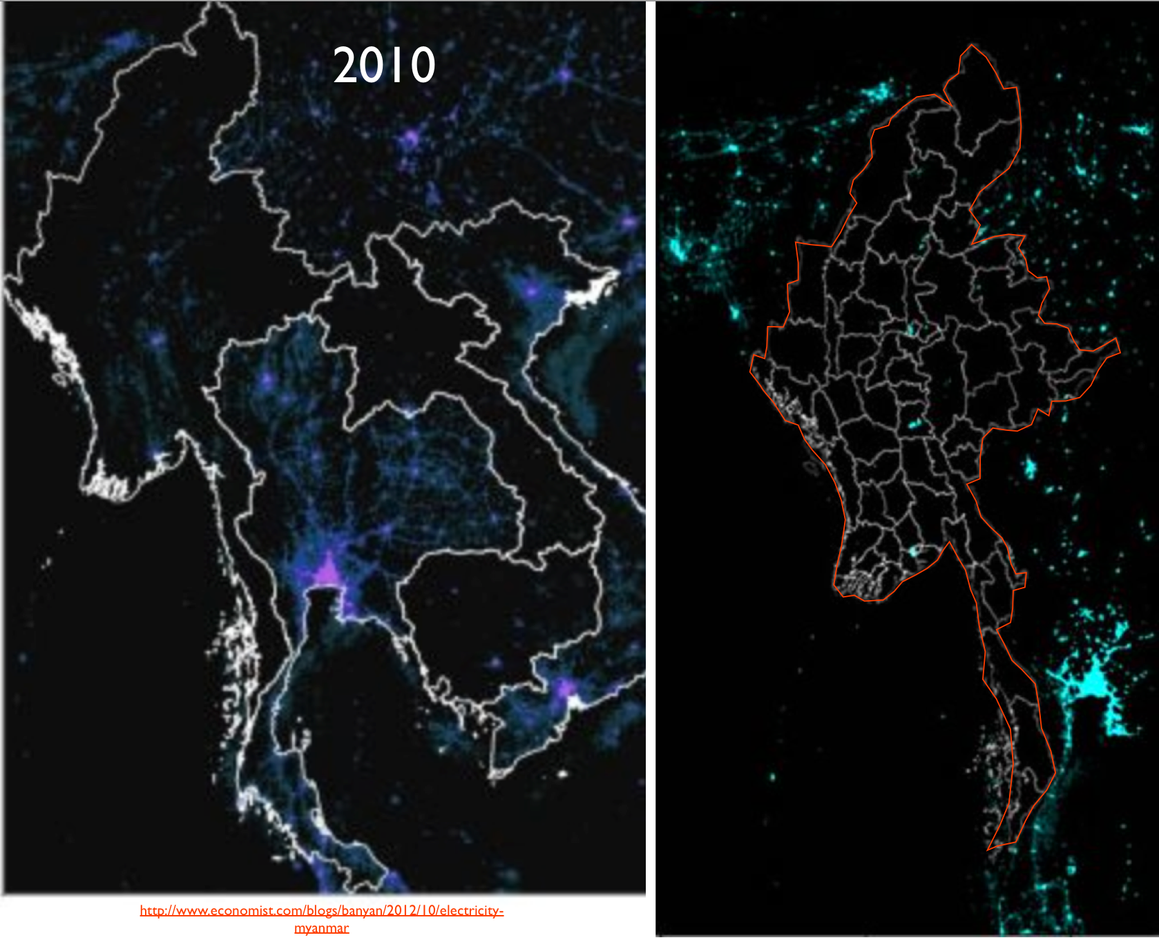 Mapping nighttime light and economic development in burma burma nightime lights gumiabroncs Choice Image