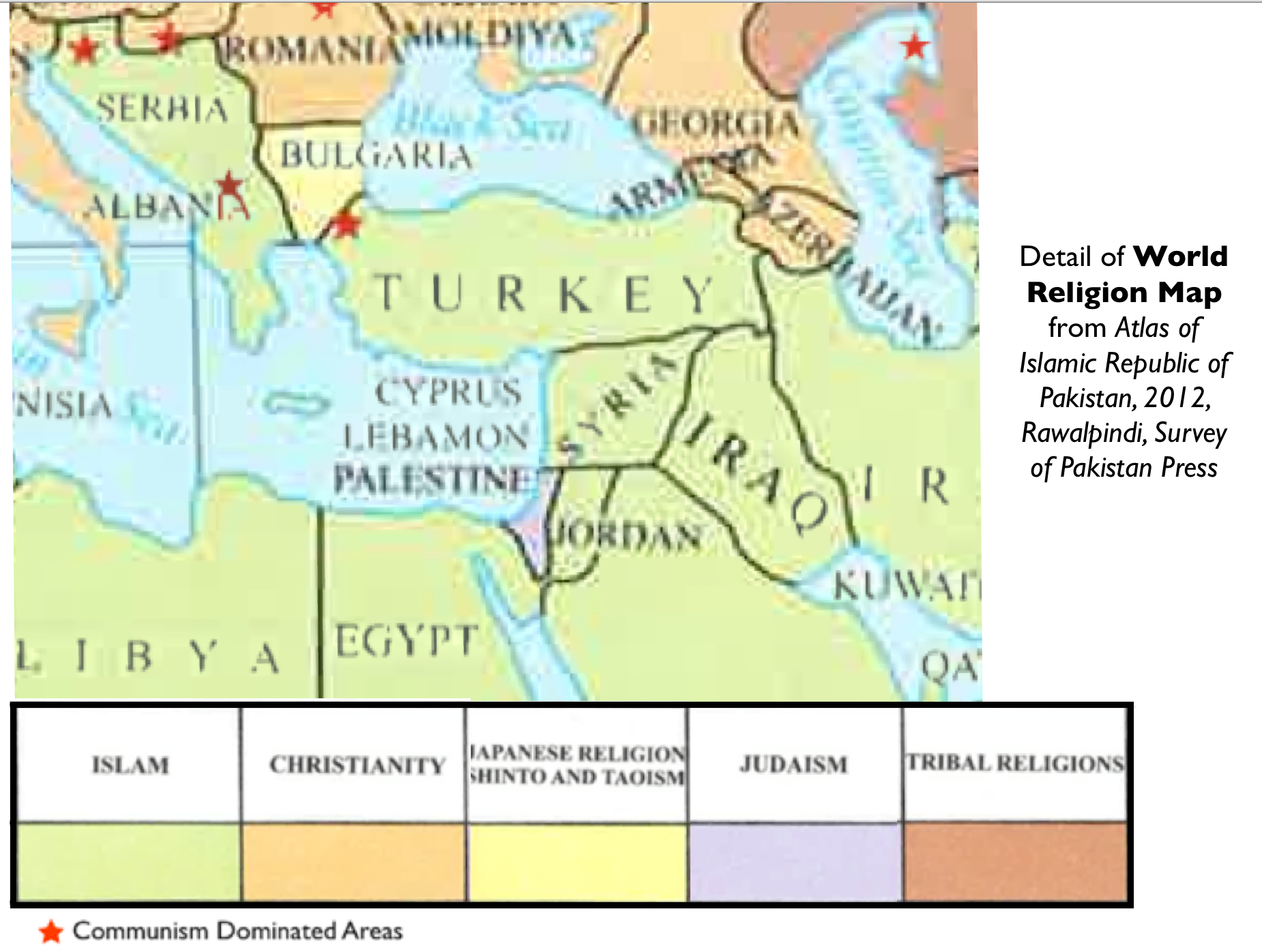 Mapping Religion In The Unfortunate Atlas Of Islamic Republic Of - World religion map judaism