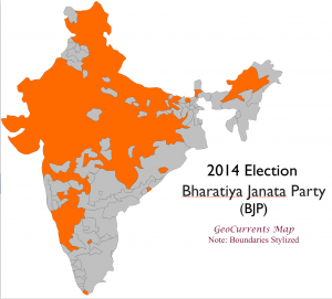 India 2014 Election BJP Map
