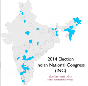 India 2014 Election INC Map