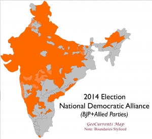 India 2014 Election NDA Map