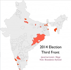 India 2014 Election Third Front Map