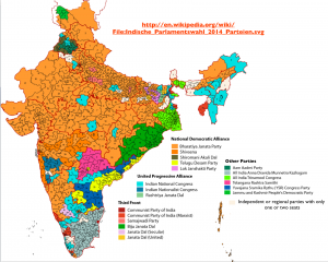 India 2014 Election map