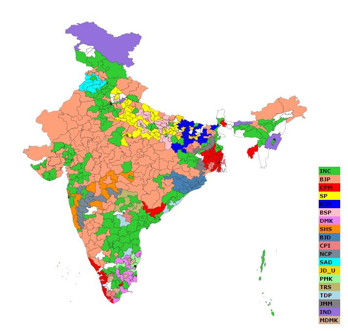 Geopolitics GeoCurrents - Us election results map 2014