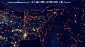 NE India Light Map