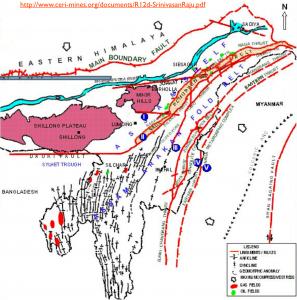 NE India Oil Map