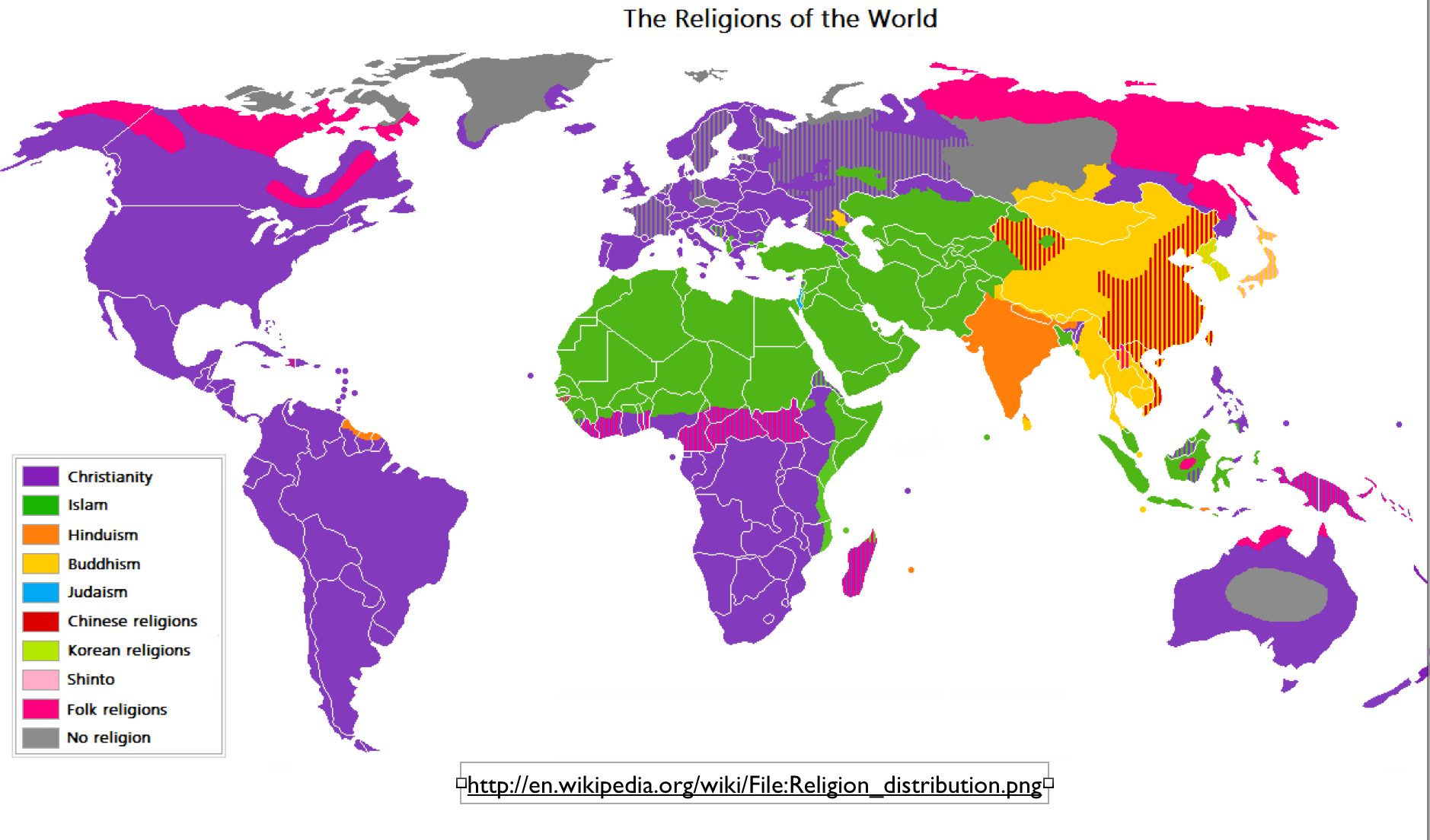 Wikipedia, the Difficulties of Mapping World Religions, and a Most